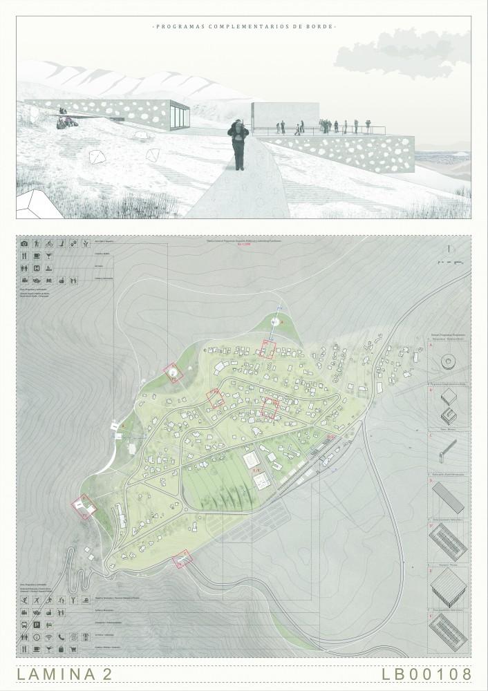 Segundo Lugar / Lámina 02. Image Cortesía de Municipalidad de Lo Barnechea