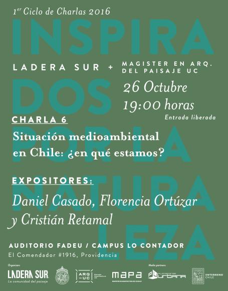 Afiche Charla 6 Medio Ambiente Chile