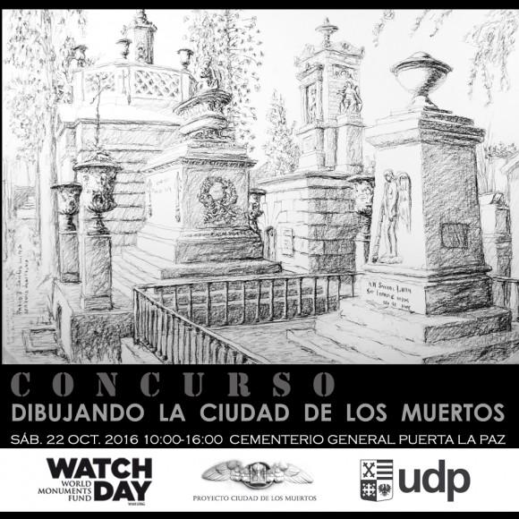 Afiche Concurso Dibujando la Ciudad de los Muertos 1