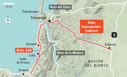Concepcion rutas puertos