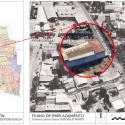 Emplazamiento del Teatro Libertad. Elaboración de Jessica Ponce en base a imagen de Google Earth y PRC. Cortesía Independencia Cultural para Plataforma Urbana.