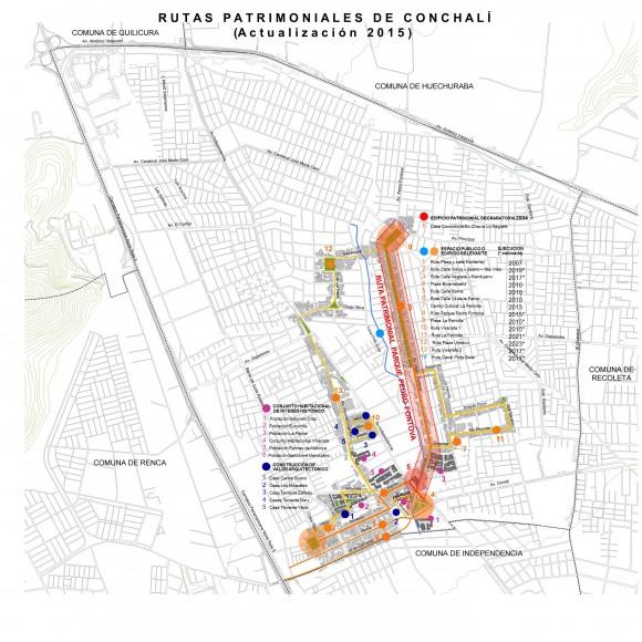 Ruta Patrimonial Parque Pedro Fontova. Cortesía Municipalidad de Conchalí para Plataforma Urbana