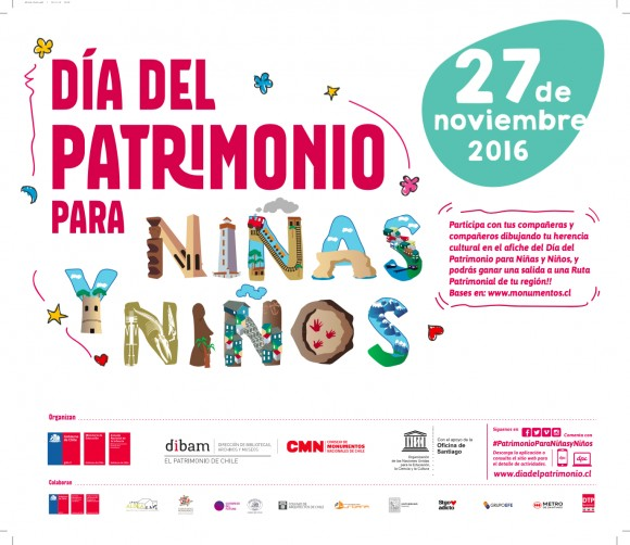 Afiche Dia Patrimonio Ninos noviembre 2016