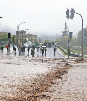 Desborde rio Mapocho