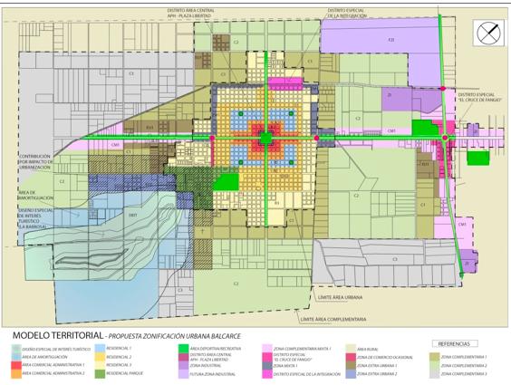 Nueva zonificación de la ciudad de Balcarce.