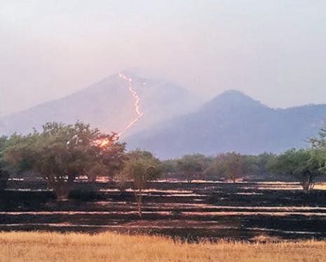 Incendio Quebrada de La Plata