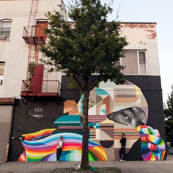Pintado junto a Rubin, Brooklyn, Nueva York (2015). cortesía Dasic Fernández