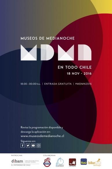Flyer Museos de Medianoche 2016