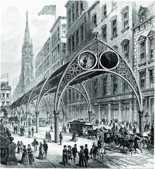 Rufus Henry Gilbert: Elevated Railway. Imagen cortesía de Metropolis Books