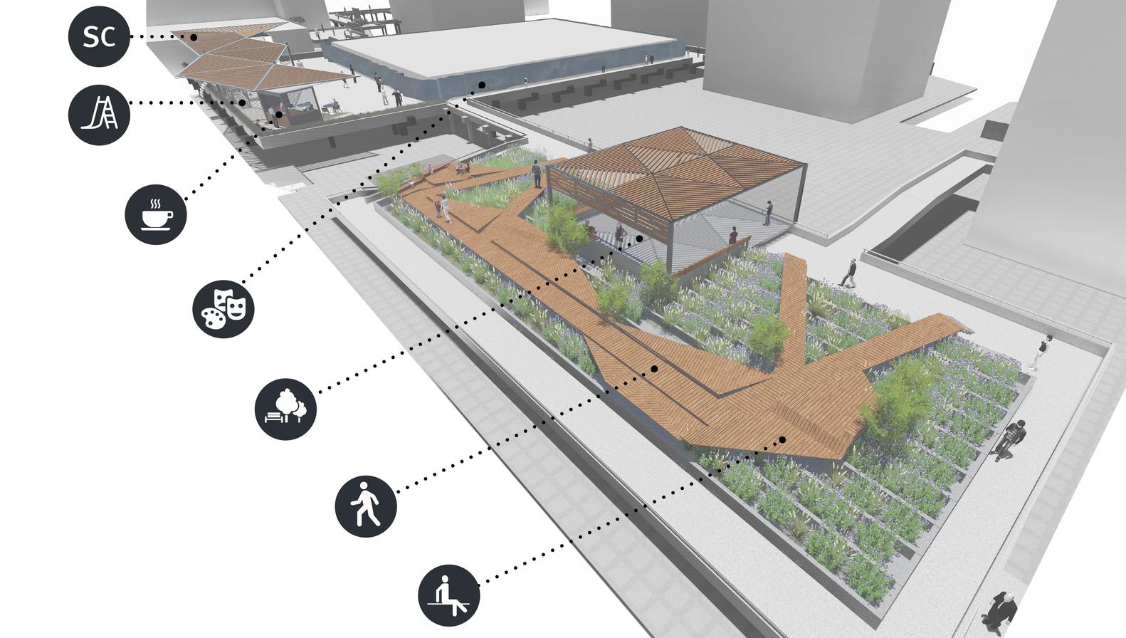 Paseos - Pasarelas San Borja / Josefa Villalabeitia. Image Cortesía de Pasarelas Verdes