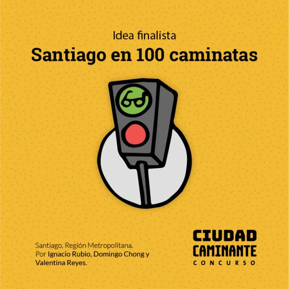 Concurso Ciudad Caminante Santiago en 100 caminatas