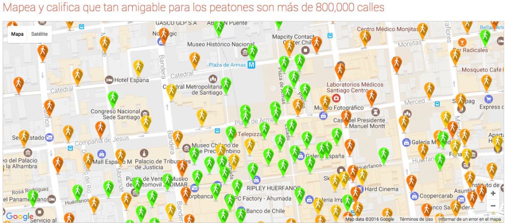 © Walkonomics / Mapa de Santiago