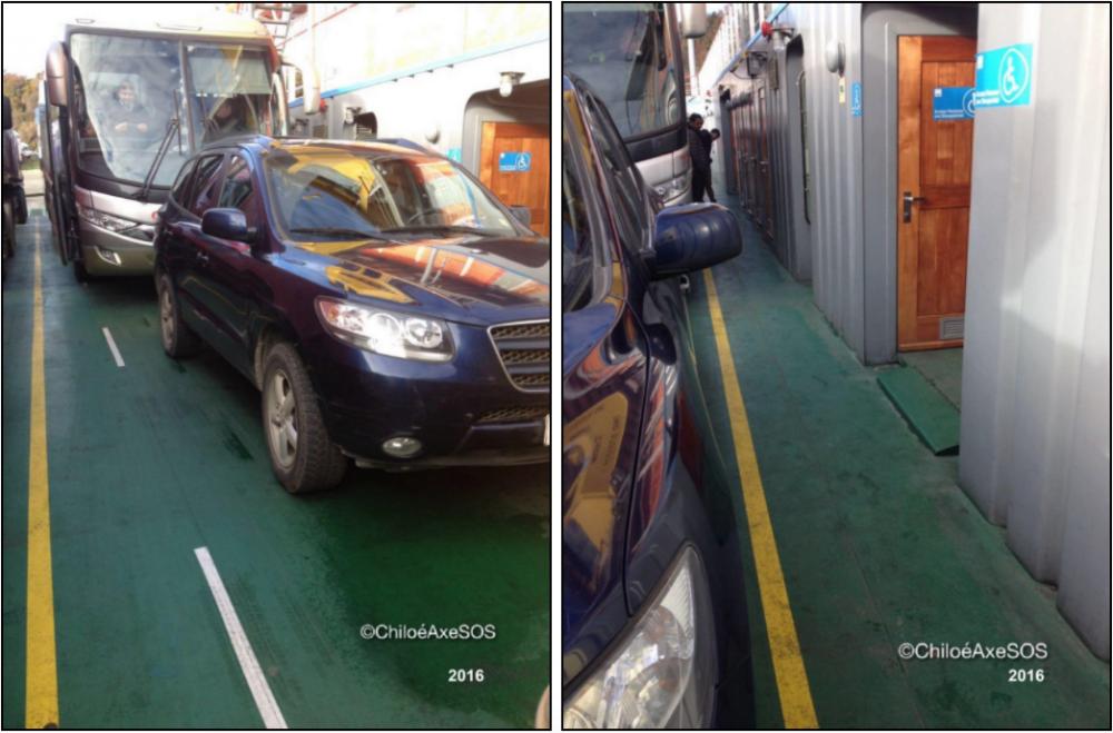 2016 | Demarcación espacio preferencial (izquierda) y pasillo circulación (derecha)
