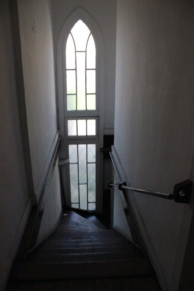 José Domingo Cañas Nº 923. Escalera principal. © Andrés Morales Zambra
