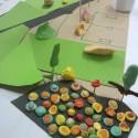 Maqueta grupo A, colorido en flores. Cortesía Equipo para Plataforma Urbana
