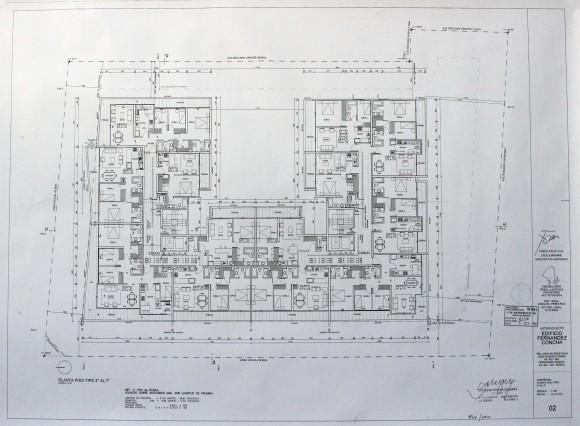 Planta tipo (pisos 2 al 7)