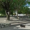 Esquina plaza, pequeño anfiteatro y acceso universal a todo el espacio. Cortesía Equipo para Plataforma Urbana