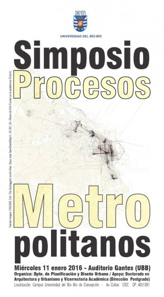Afiche Simposio Procesos Metropolitanos UBB