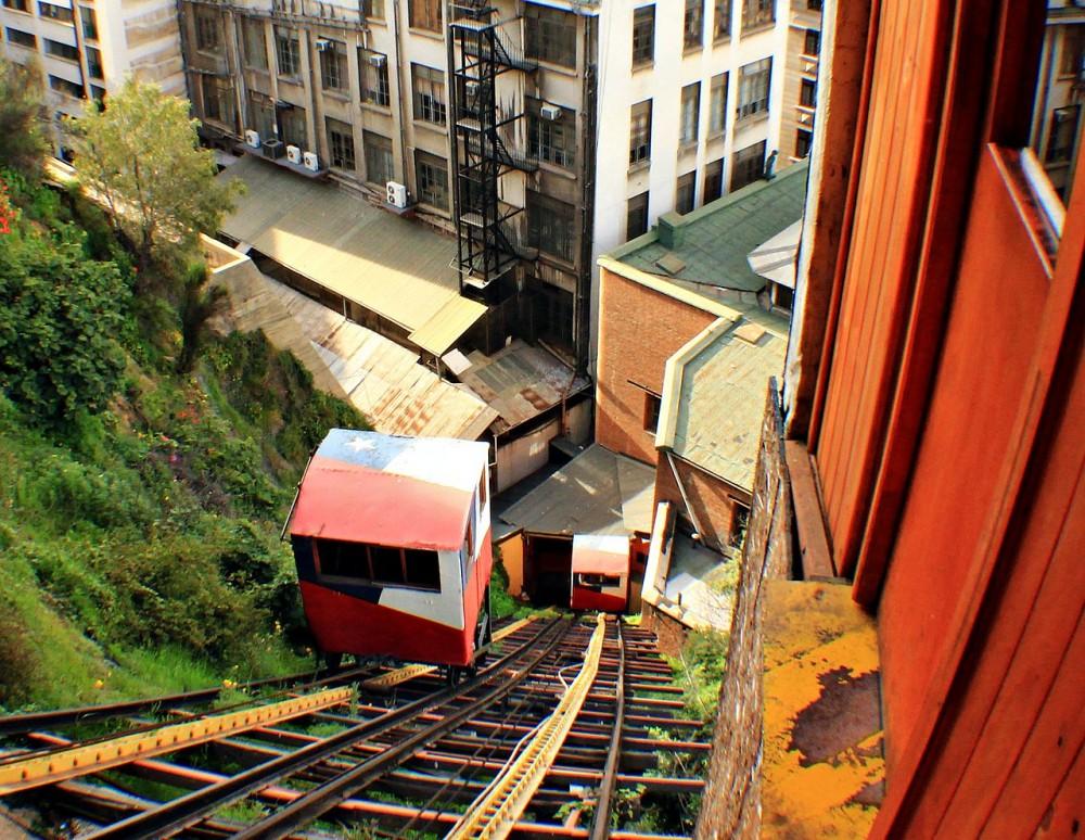 Ascensor Concepción, Valparaíso. © Wikimedia Commons Usuario:  Ccaba77, Licencia: CC BY-SA 3.0