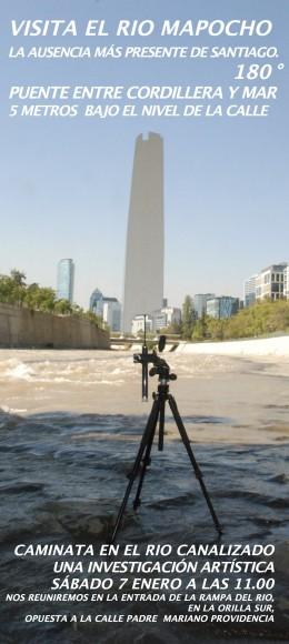 Exposicion Orillas Puentes y el Torrente Visita guiada rio Mapocho