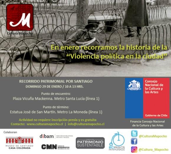 flyer RPS Violencia política
