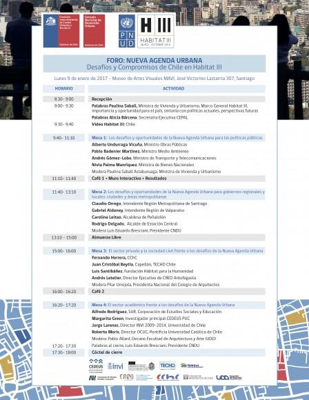 Programa Foro Nueva Agenda Urbana