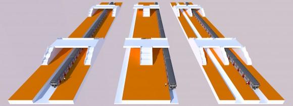 Tres configuraciones de andenes: Andenes laterales, andén central y andenes mixtos / Fuente: Ariel López