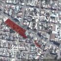 1.Localización (se resalta con un rectángulo de color rojo) de las pendientes urbanas en San Salvador de Jujuy - Elaboración propia en base a Google Earth.2016.