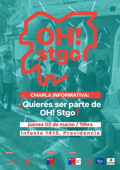 Afiche charla voluntariado OH Stgo