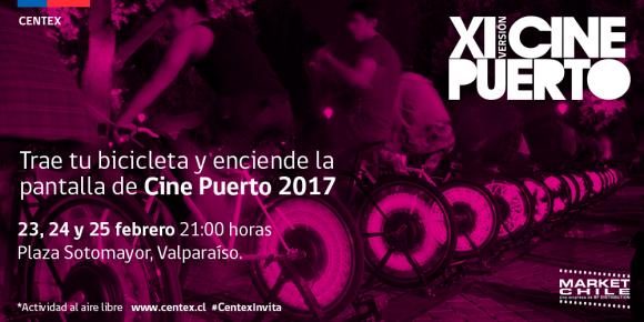 Afiche Cine Puerto Bicicleta