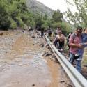 Aluvion Cajon del Maipo Febrero 2017
