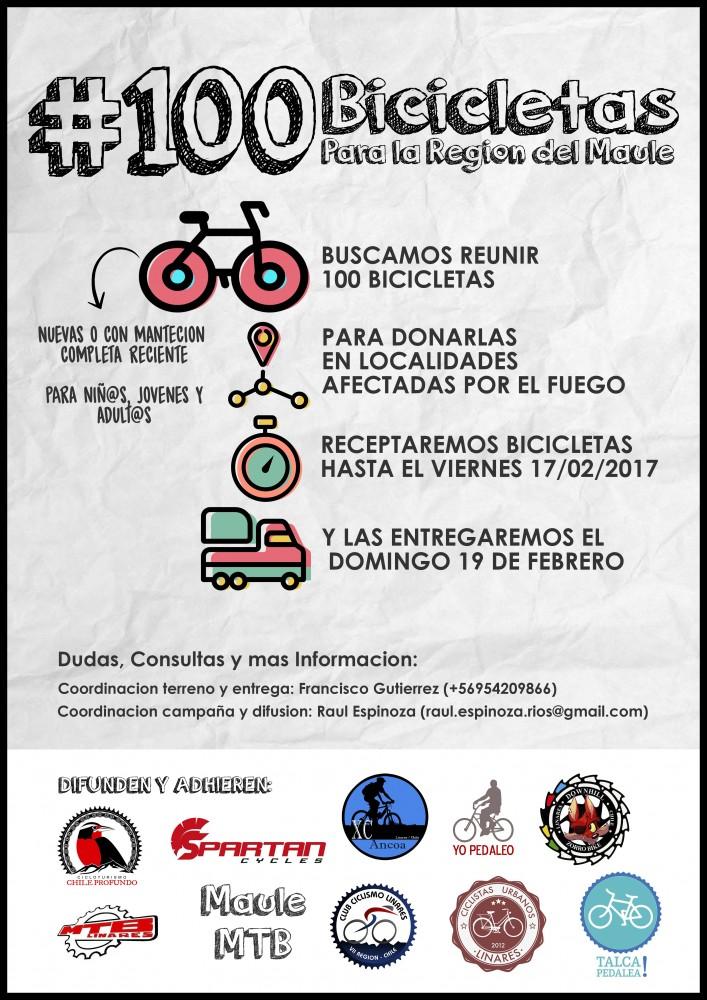 Campana 100 bicicletas para la Region del Maule