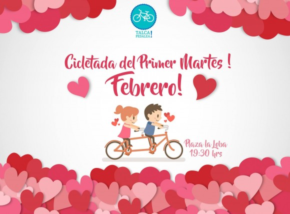 Cicletada Primer Martes Febrero 2017