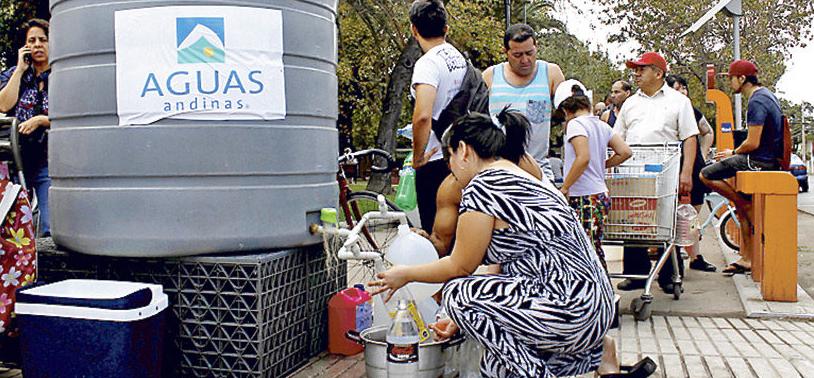 Corte de agua 2 Santiago Febrero 2017