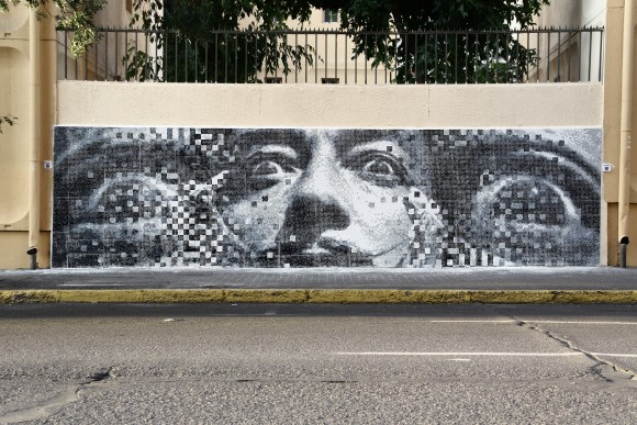 """""""El Renacer"""", en Curicó 161. Cortesía de Pixel Art para Plataforma Urbana"""