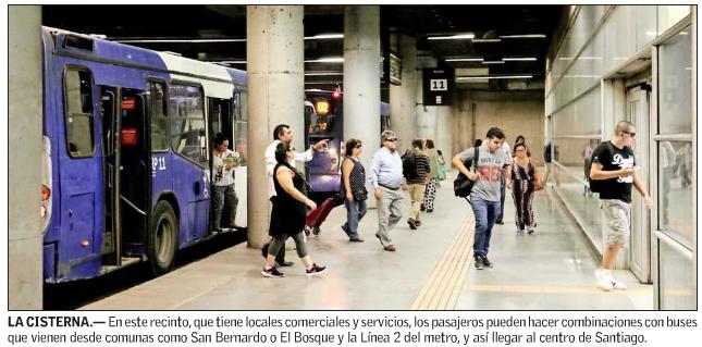 Estacion intermodal La Cisterna Santiago