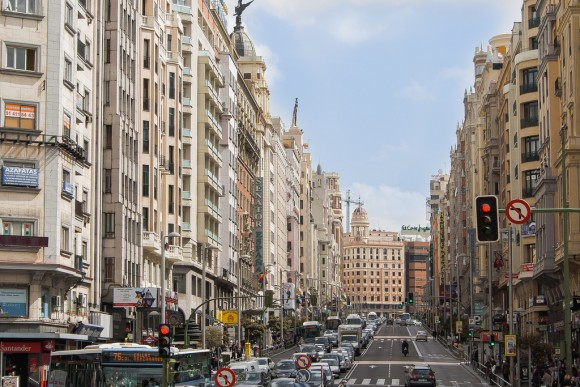 Gran Vía, Madrod. © Flickr usuario efradera Licencia CC BY-ND 2.0