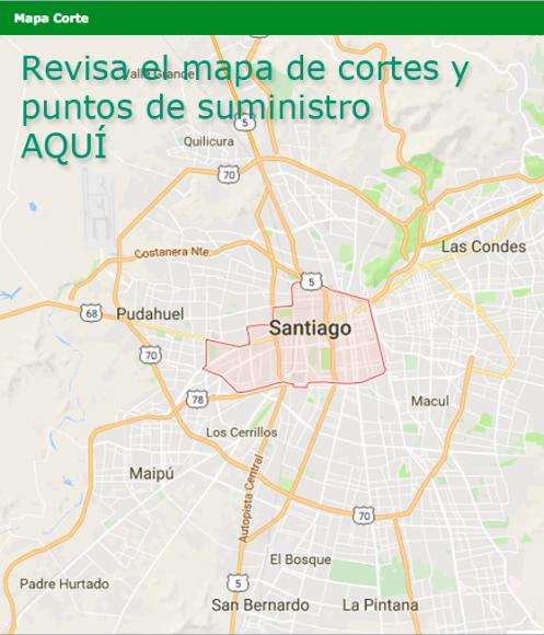 Mapa Corte de Aguas Andinas