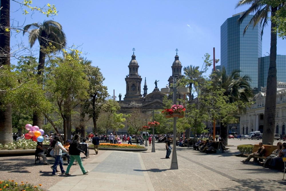 Plaza de Armas de Santiago Flickr usuario Joel Mann Licencia CC BY-NC-ND 2