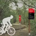 Sendero rojo para ciclistas. © Parquemet