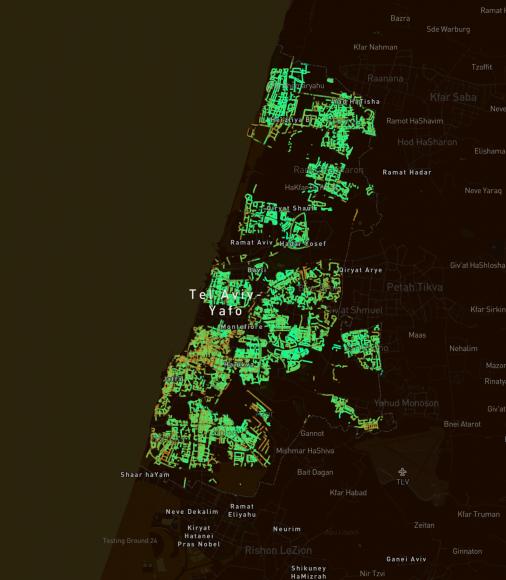 Tel Aviv, Israel. © Treepedia