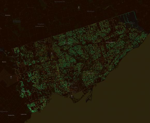 Toronto, Canadá. © Treepedia
