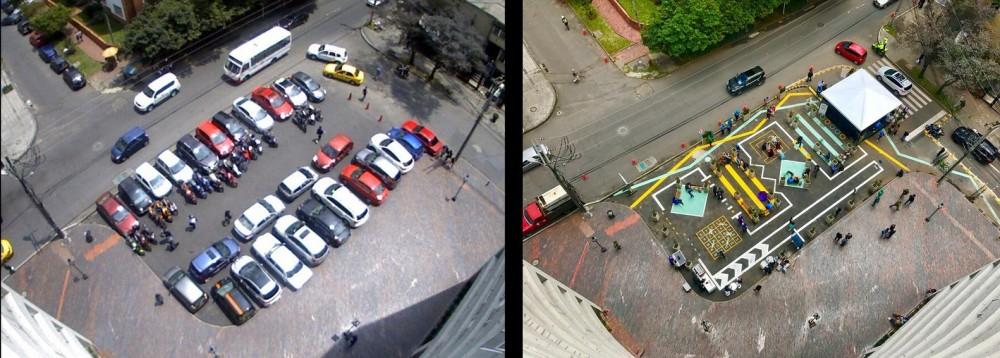 Intervención Bogotá - Plaza 80. Image vía @JSadikKhan [Twitter]