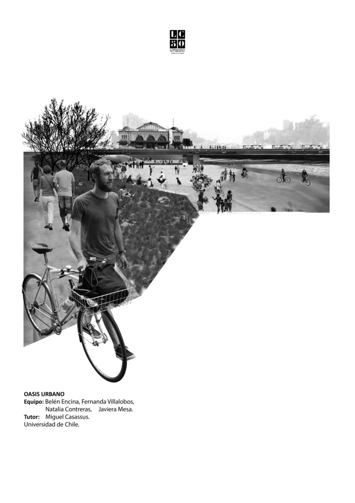 G10: Oasis urbano / Lámina 01. Image Cortesía de Grupo Arquitectura Caliente