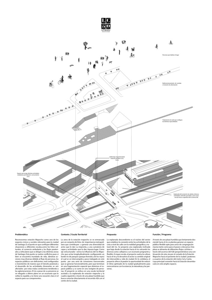 G10: Oasis urbano / Lámina 02. Image Cortesía de Grupo Arquitectura Caliente