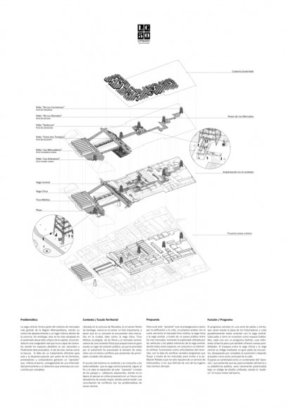 G12: Paseo de los mercados / Lámina 02. Image Cortesía de Grupo Arquitectura Caliente