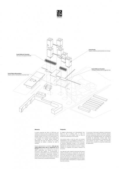 G16: Sistemas de fricción para una ciudad en desencuentro / Lámina 02. Image Cortesía de Grupo Arquitectura Caliente