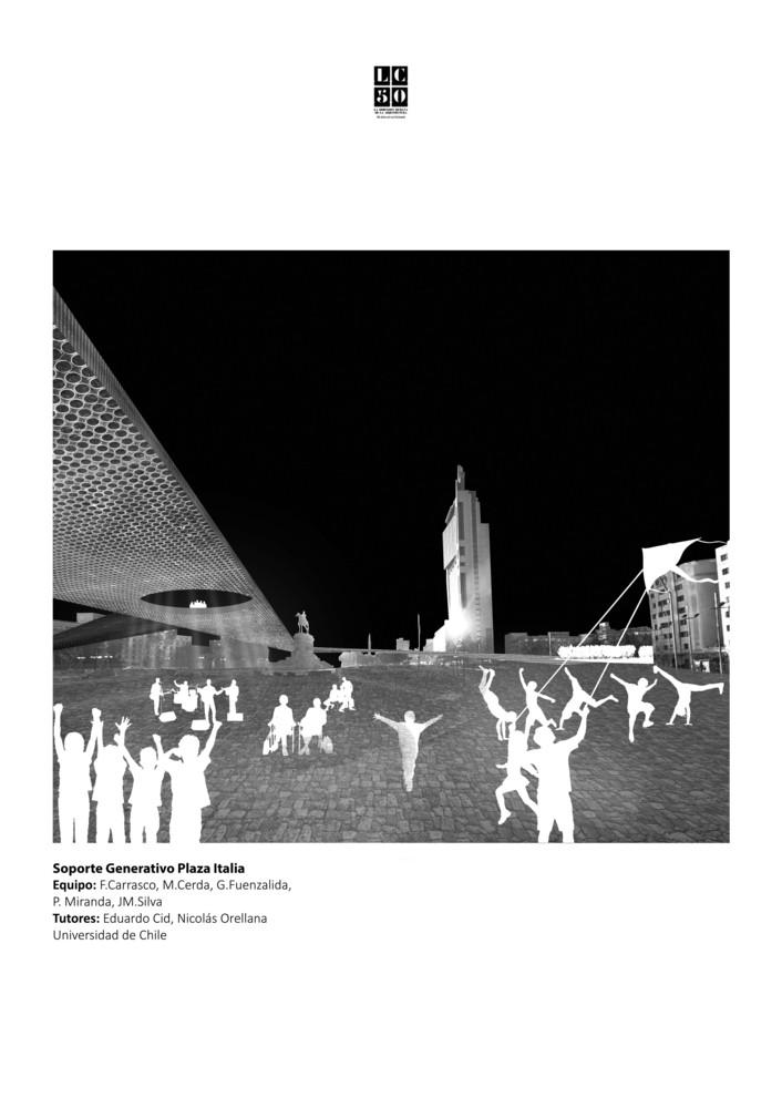 G18: Soporte generativo Plaza Italia / Lámina 01. Image Cortesía de Grupo Arquitectura Caliente
