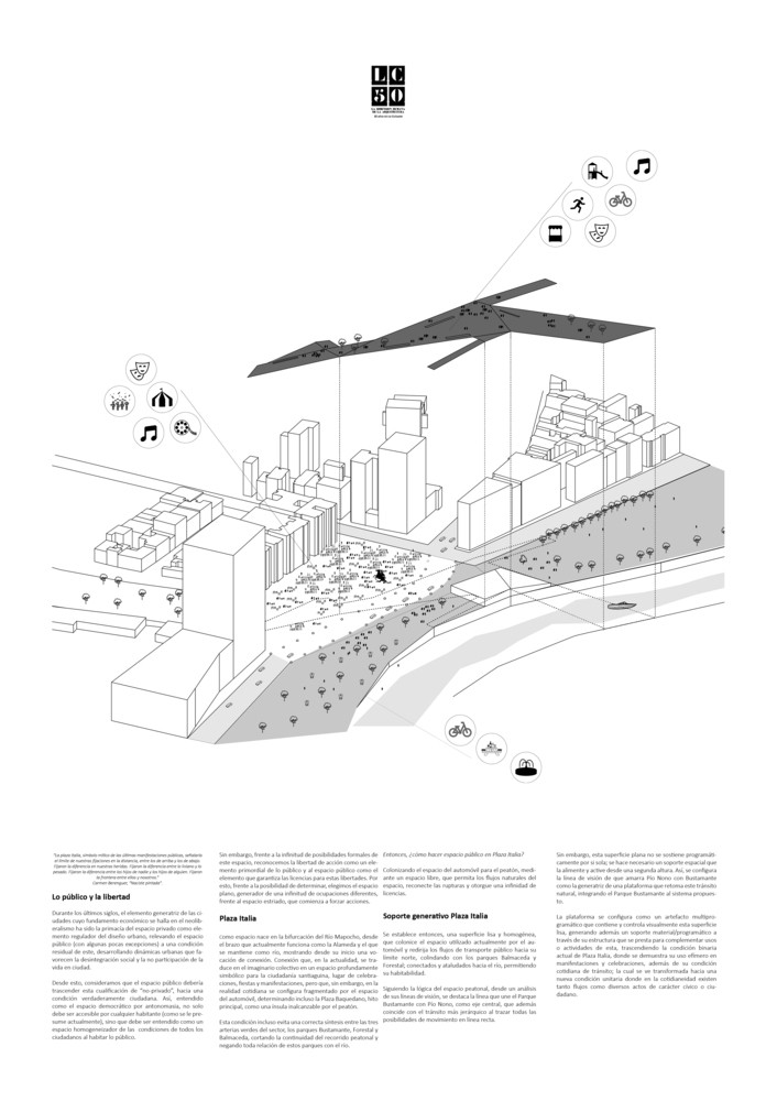 G18: Soporte generativo Plaza Italia / Lámina 02. Image Cortesía de Grupo Arquitectura Caliente