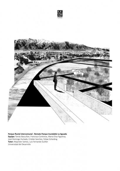 G20: Parque fluvial intercomunal. Remate Parque Inundable La Aguada / Lámina 01. Image Cortesía de Grupo Arquitectura Caliente